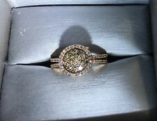 Diamond 💎And Rose 🌹Gold Ring Authentic 1/2 Karat Chocolate And White Diamonds-