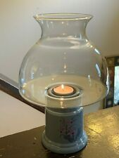 Clear Glass Dome Globe Hurricane Oil Lamp Tealight Candlelight Holder