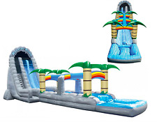 75x20x30 Commercial Inflatable Tropic Water Slide Bounce House Course Trampoline