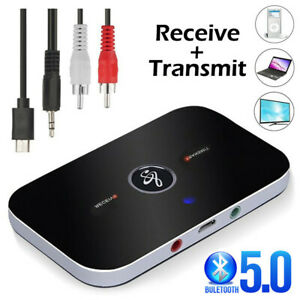 Bluetooth 5.0 Wireless Receiver Transmitter HIFI RCA to 3.5mm Aux Audio Adapter