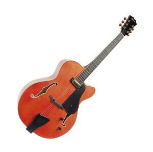 Ozark Jazz Electric Guitar Warm Orange Finish Model 3178