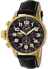 3330 Invicta I-Force Quartz Men's 46mm SS Case Chronograph Leather Strap Watch