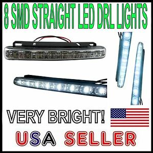 8 SMD LED DAYTIME RUNNING FOG LIGHTS - LIGHT BAR FOR FORD - MUSTANG F150- DRL -