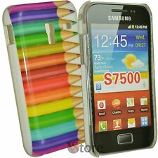 Cover Per Samsung Galaxy Ace Plus S7500 Matite Colorate