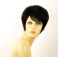 perruque femme 100% cheveux naturel courte noir ref ROXANE 1b