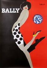 VILLEMOT BERNARD  BALLY  BALLON SHOES  VINTAGE ORIGINAL POSTER