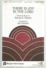 There Is Joy In The Lord Barney E Warren Jim Dodson Sheet Music 1982