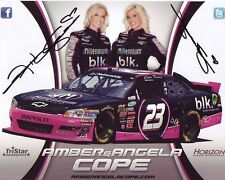 AMBER & ANGELA COPE Signed NASCAR Photo w/ Hologram COA