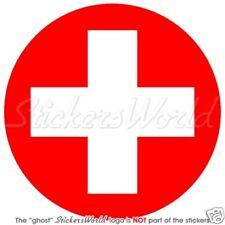 SWITZERLAND Swiss Air Force Roundel Vinyl Sticker Decal