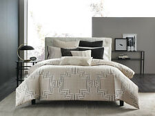 Hotel Collection Emblem King Sham Black Geometric Quilted