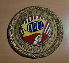 Opel Plakette Silber Preis 200000 Kilometer KM vergoldet ca 1920 emaillie 95mm