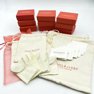 James Avery Boxes Felt Bags Tulle Bag Information Cards NO JEWELRY