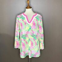 NWT LILLY PULITZER SARASOTA TUNIC CAMEO WHITE ELECTRIC FEEL S,M GRAIL!