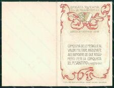 Militari 77º 78º Reggimento Fanteria Brigata Toscana doppia cartolina XF5460