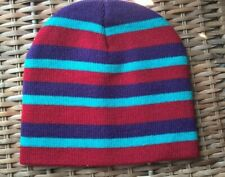 Striped beanie hat, one size