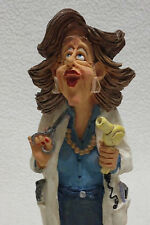 """Just a Trim..."" figurine~Russ Berrie and Co.Inc.~Item No.13192~Hairdresser EUC"