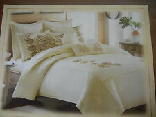 Tommy Bahama Twin Tropical Embroidered Botanical Duvet cover 100% Cotton, New