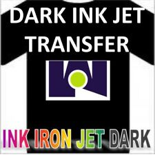 "Ink Jet Iron-On Heat Transfer Paper - Dark fabric  -100 Shs - 8.5""x11"" Blue Grid"