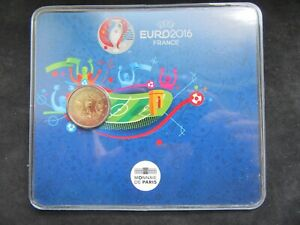 2 Euro Commémorative Coincard Bu France 2016 ; UEFA Euro 2016