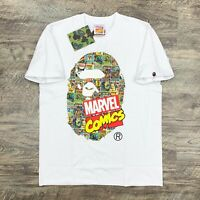 BAPE by A Bathing Ape x Marvel Comics Ape Head White T-shirt