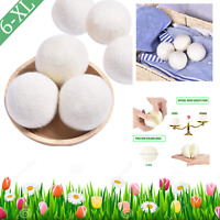 Wool Dryer Balls Organic 6 Pack XL Natural Fabric Softener 100% New Zealand ECO