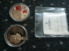 2 winston churchill coin, 24k Gold plated commemorative coins in cases