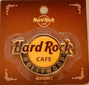 "Hard Rock Cafe HOLLYWOOD CALIFORNIA 2016 Classic HRC Logo MAGNET Card 2.75"" x 2"""