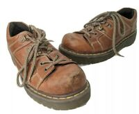 Dr Doc Martens Shoes 8A79 Men's Size 10 US 9 UK Distressed Brown Leather