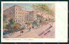 Venezia Lido Hungaria Palace Hotel Tram cartolina XB0229