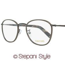 Tom Ford Oval Eyeglasses TF5333 045 Size: 51mm Ruthenium/Brown/Horn FT5333