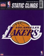 """LOS ANGELES LAKERS Logo STATIC CLING Window NBA Decal 6"""" Show Your Team Support"""