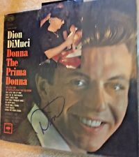 Dion DiMuci  hand signed record album autographed Donna The Prima Donna