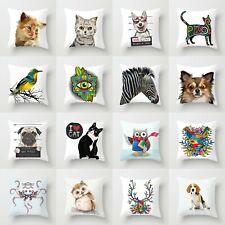 Polyester Sofa Cushion Cover Throw Pillow  18'' Case Waist Decor Home