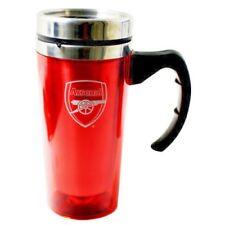 ARSENAL FC ALUMINIUM TRAVEL JOURNEY COFFEE TEA MUG SOUVENIOR NEW XMAS GIFT