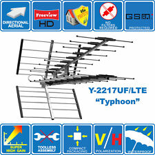 """""""Typhoon"""" LTE Protected Super HIGH Gain DIGITAL HD TV OUTDOOR AERIAL Freeview HD"""