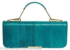 EMILIO PUCCI Turquoise SNAKESKIN LEATHER Clutch Bag + Dustbag BRAND NEW