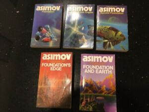 Vintage Isaac Asimov Foundation Series Paperbacks - 5 books