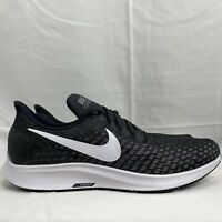 Men's Nike Air Zoom Pegasus 35 Black Running Shoes Athletic AO3905-001 Size 15