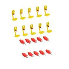 10 Pack Plastic Automatic Hen Drinker Poultry Water Drinking Cups & Nipples