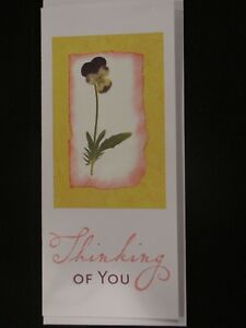 Flowers, Thinking of You: handmade greeting card