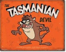 Tazmanian Devil Cartoon Metal Sign Warner Bro TV Show Taz Picture Wall Gift USA