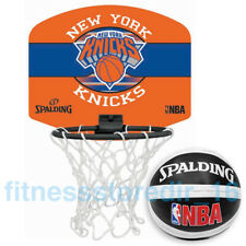 Spalding Team NBA New York Knicks Micro-Mini Basketball Set with Soft Mini-Ball