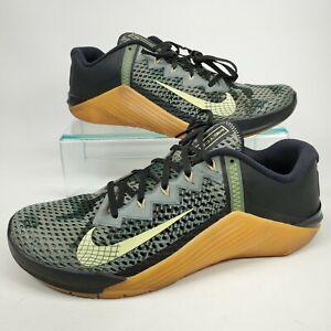 Nike Metcon 6 Camo 'Black Limelight' Cross Training CK9388-032 Men's Size 11