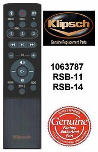 New Genuine Klipsch Sound Bar Remote Control 1063787 for RSB-11 1063117 RSB-14