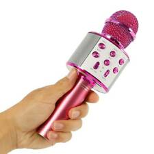 Microphone Rose Mic à Main Sans Fil Bluetooth Haut-parleur Portable Karaoké KTV