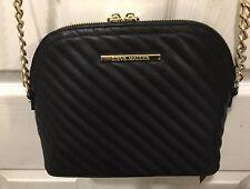 0761a2d2c1 Steve Madden handbag BMarilyn Black Cross body Soft ribbed faux leather  MSRP $68