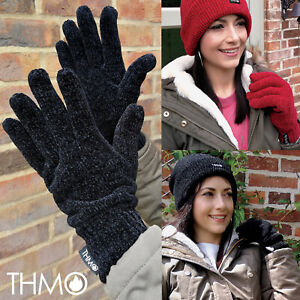 THMO - Ladies Outdoor Thermal Winter Chenille 3M 40 gram Thinsulate Lined Gloves