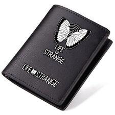 New Game Life is Strange Logo Black Pu Leather Bi-Fold Wallet 4.52*3.74''