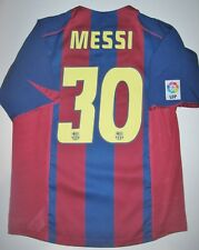 FC Barcelona Lionel Messi Home Jersey Trikot Maglia Kit Argentina 2004-2005 Nike