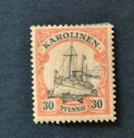 Stamp Germany 1900 KAROLINEN Carolines Hohenzollern Ship Mi YT12 SG 18 No WMK MH